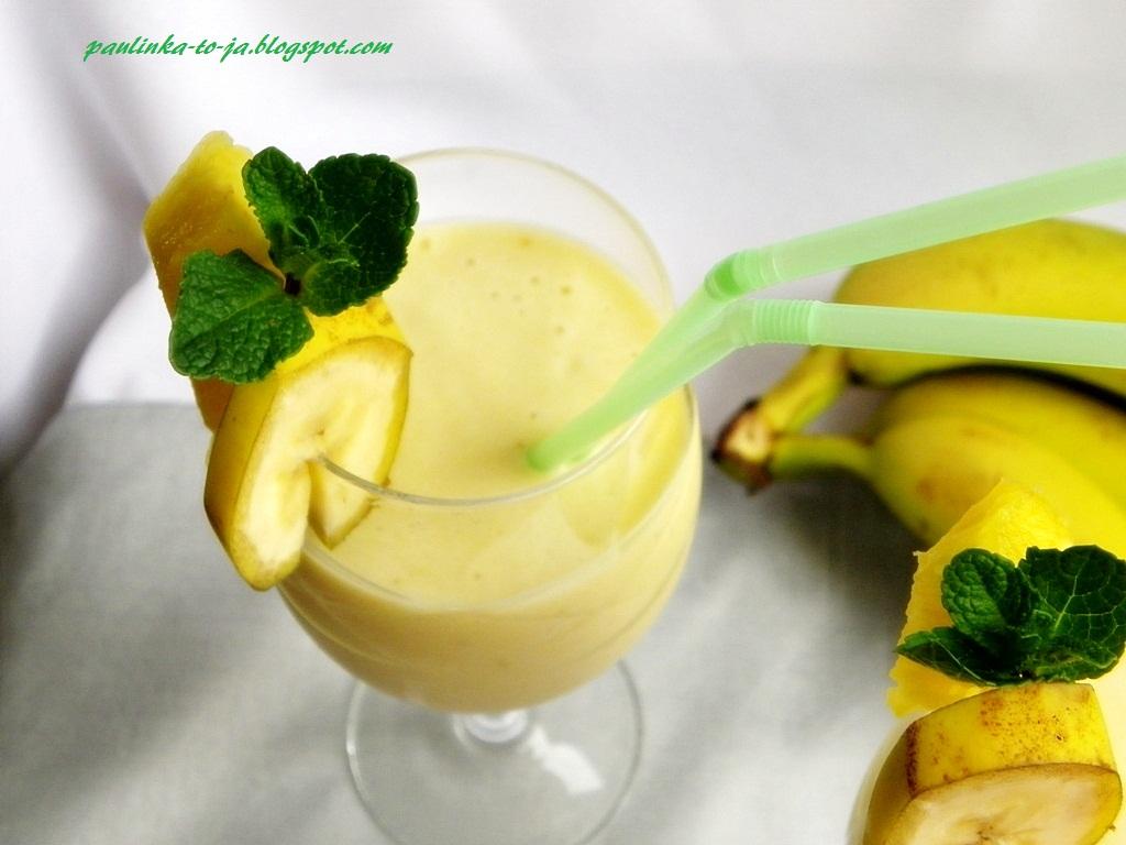smoothie ananas banan