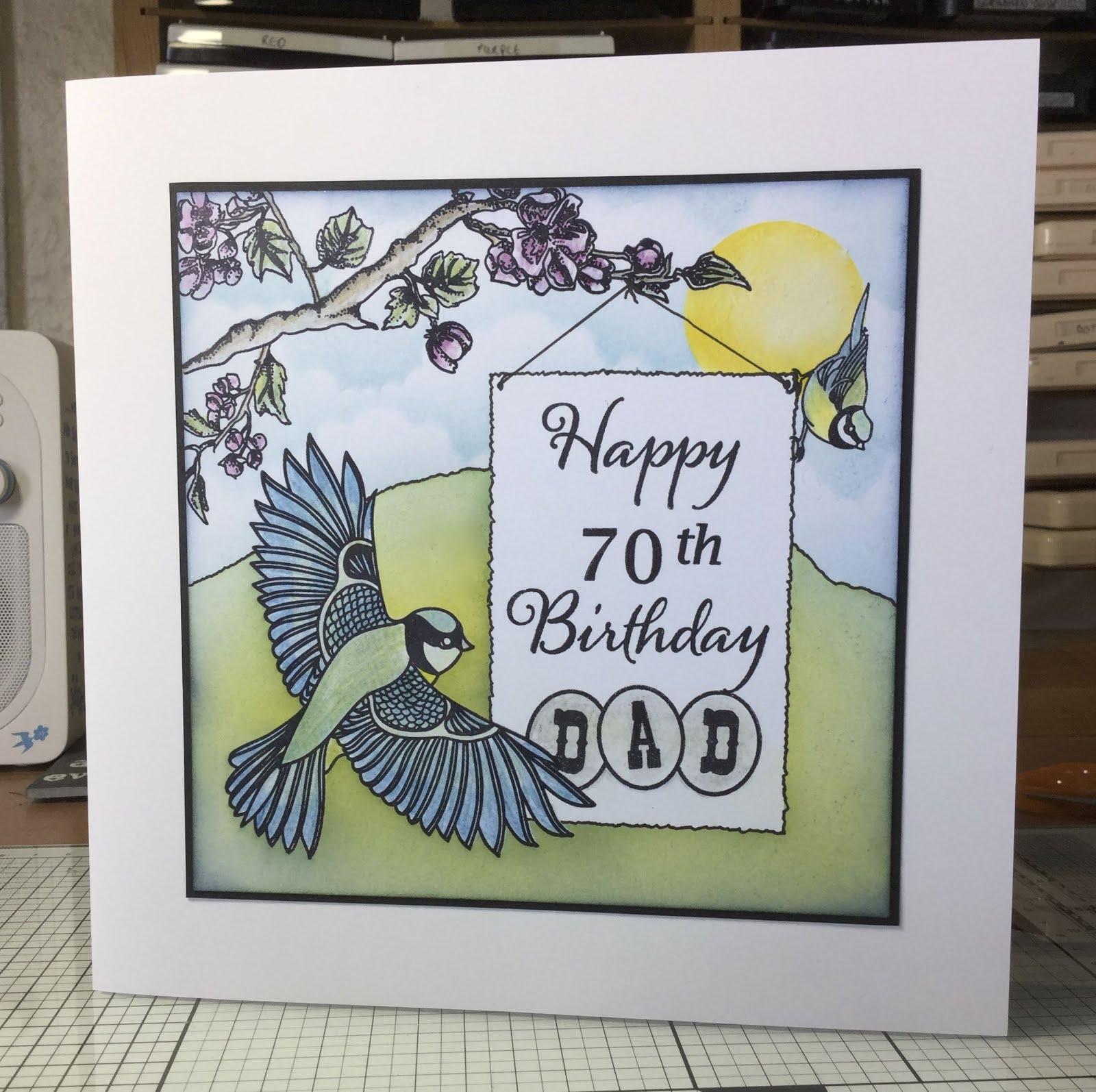 Lynnes Crafty Little Blog My Dads 70th Birthday Card