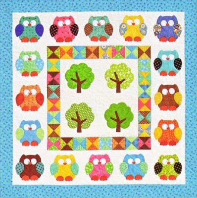 Owl Applique Quilt Pattern