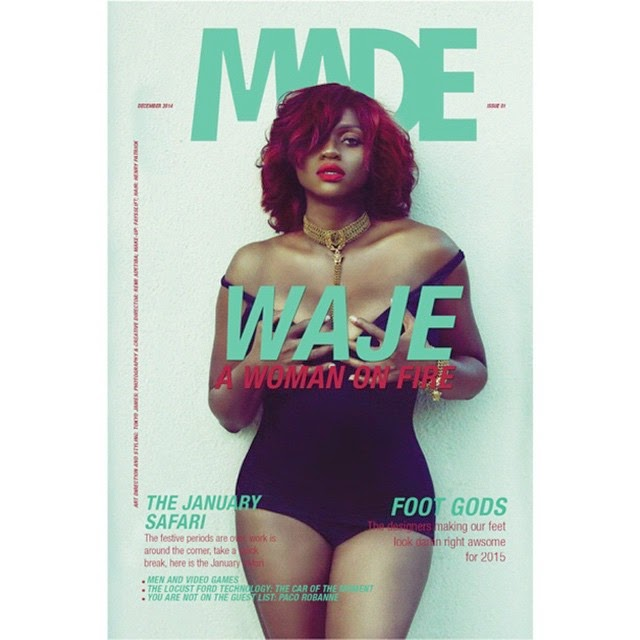 Waje on the Cover of Made Magazine's December Edition