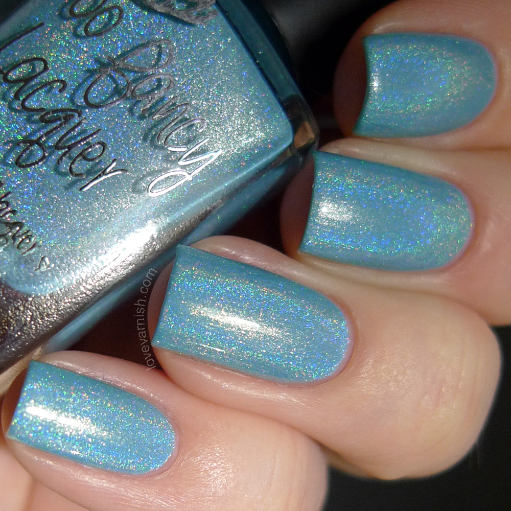 Too Fancy Lacquer Lake Como sky blue holo