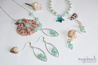 Amazonite Jewelry Collection by MagsBeadsCreation