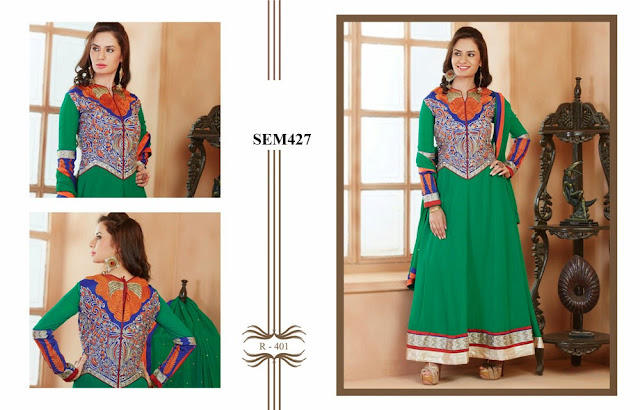 Exclusive Designer Embroidery Sleeve Anarkali Suit