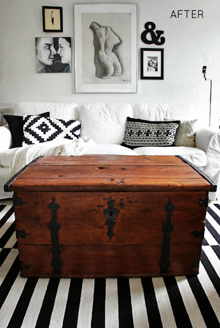 http://www.nimidesign.com/old-wooden-trunk-makeover/