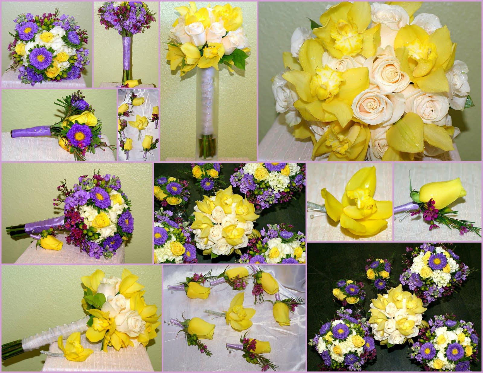 LeLe Floral: Yellow, White & Lavender 40th Wedding Anniversary