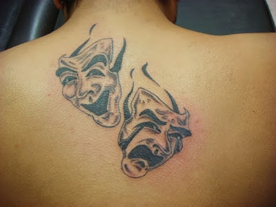 Happy and Sad Masks Tattoo