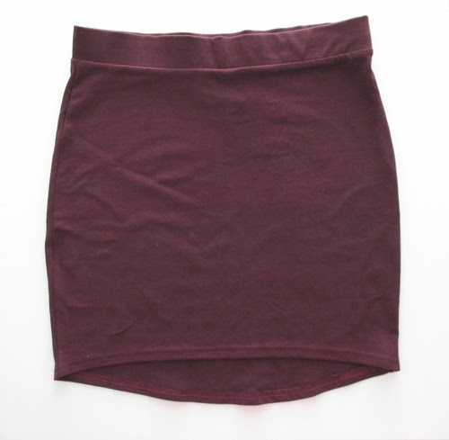 tube+skirt, burgundy+skirt, mini+skirt, h&m+skirt