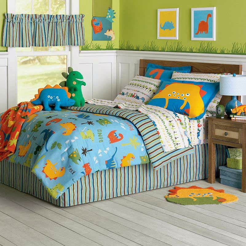 Make A Great Room For Your Child With Dinosaur Bedding A