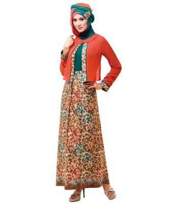 Model Baju Gamis Batik Kombinasi Sifon Grosir