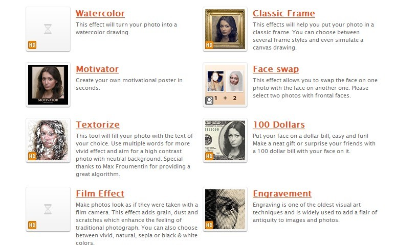 List of Free Online Photo Image Editor and Effects: Photofunia