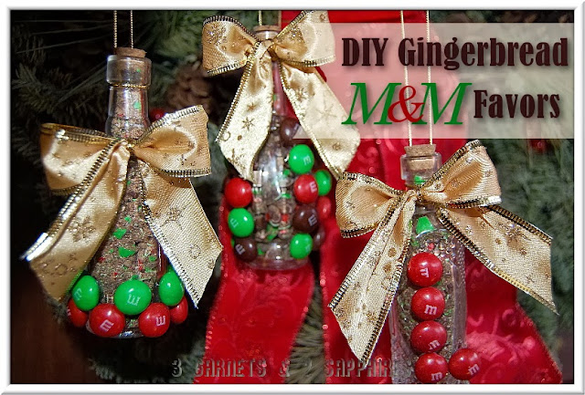 3 Garnets & 2 Sapphires: Easy DIY Gingerbread M&M Holiday Favors Craft (#HolidayMM #shop #cbias)