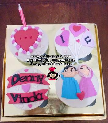 Cupcake Valentine Romantis Daerah Surabaya - Sidoarjo