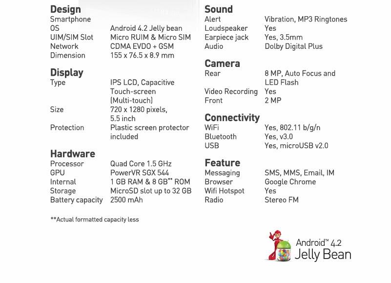 Detail Spesifikasi Dan Harga Smartfren Andromax Z Terbaru
