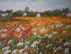 Cuadro: Campo florido