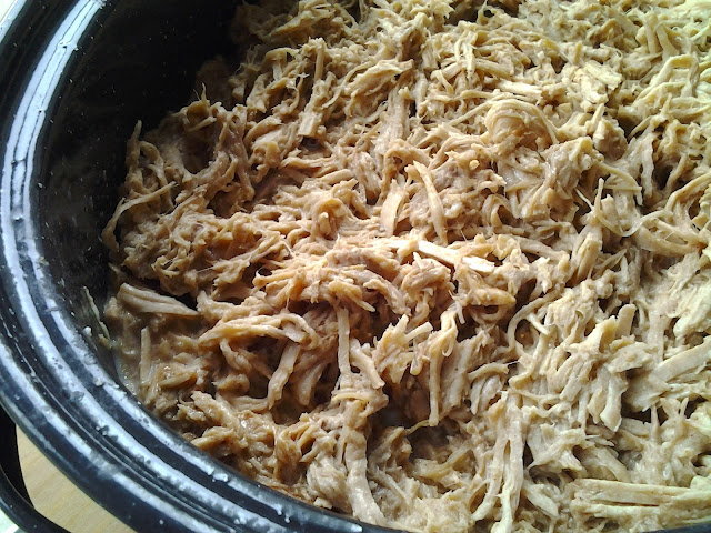 slow cooker pulled pork loin