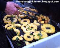 Ananasscheiben vom Grill
