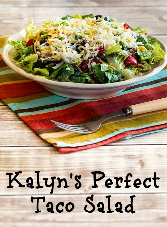 Kalyn's Perfect Recipe for Taco Salad (Low-Carb, Gluten-Free) found on KalynsKitchen.com