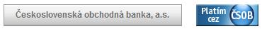 ČSOB banka - platba prevodom