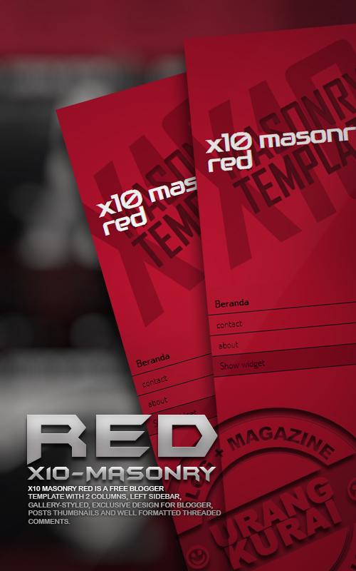 X10 Masonry red
