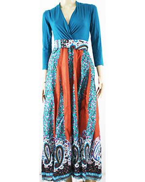 Model Batik Long Dress
