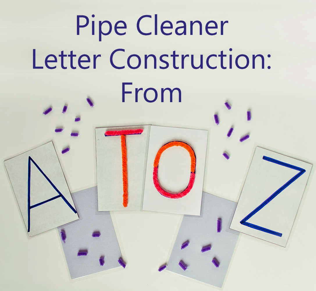 Pipe Cleaner Letter Construction Set for Preschoolers  sc 1 st  Tickled by the Creative Bug & Tickled by the Creative Bug: Pipe Cleaner Letter Construction Set ...