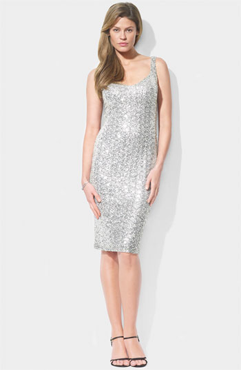 Lauren by Ralph Lauren Sleeveless Sequin Sheath Dress