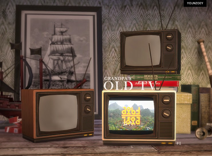 My Sims 4 Blog Grandpa S Old Tv By Youngzoey