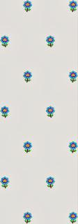 3mm sequins blomme Dupatta