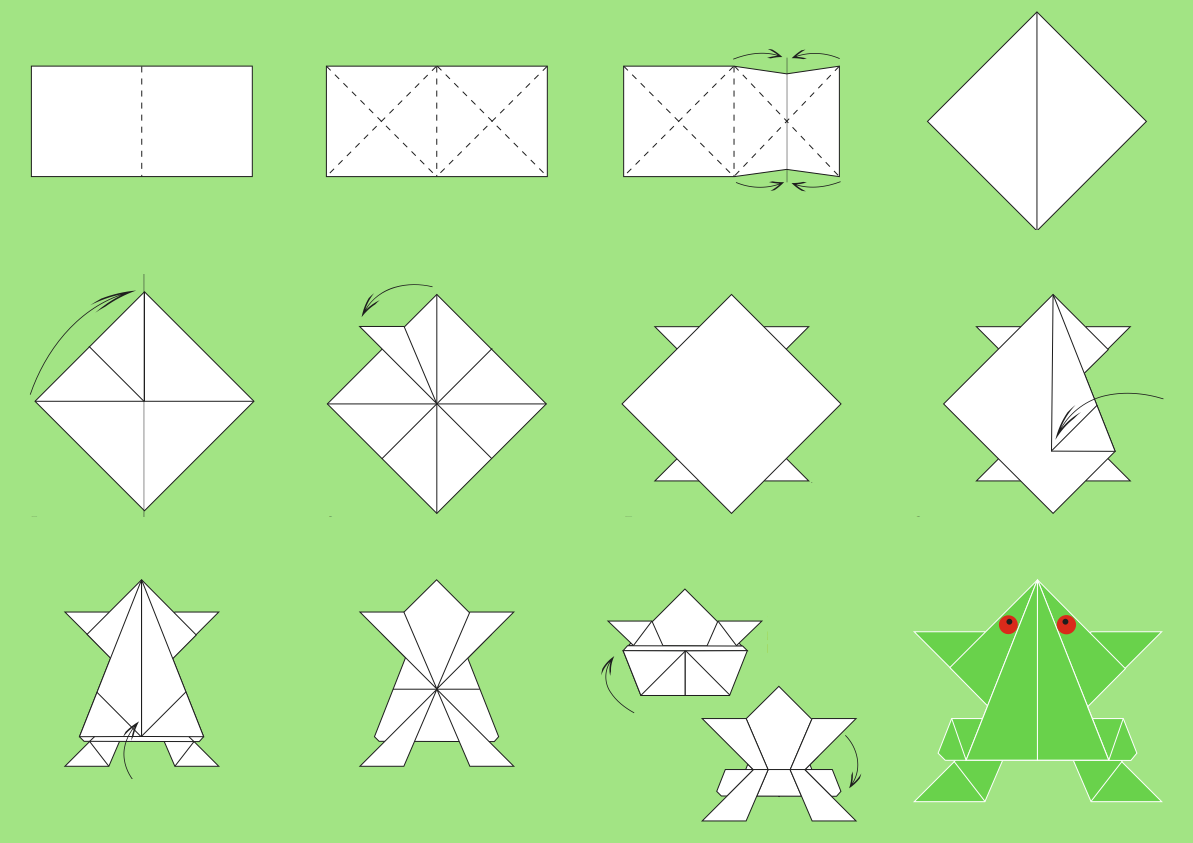 Origami paper folding step by step easy origami instructions for kids crafts - Origami origami origami ...