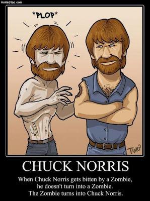 Chuck Norris Zombie Zombiecide Joke Eagle Chaz