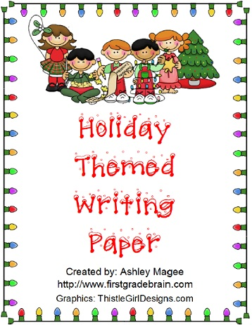 You can download your FREE holiday themed writing paper at TeachersPay ...
