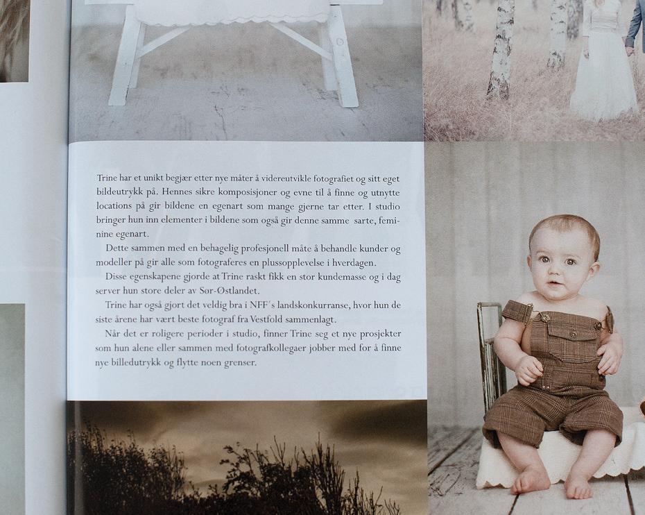 presseomtale i bladet fotografi om Fotograf Trine Bjervig i Tønsberg