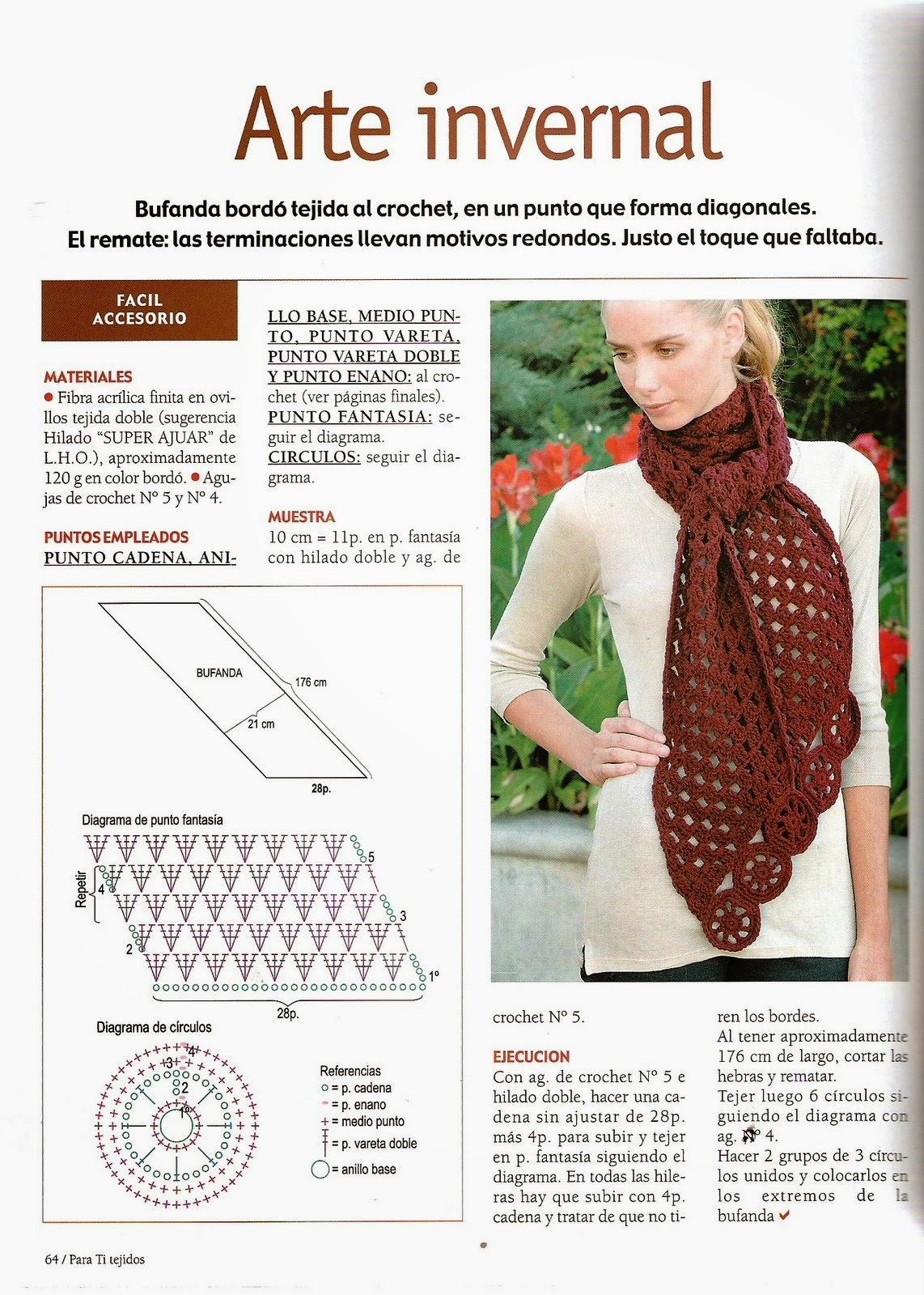 Patrones ganchillo bufandas - Imagui