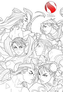 Desenhos Para Colori chun-li lutando  desenhar