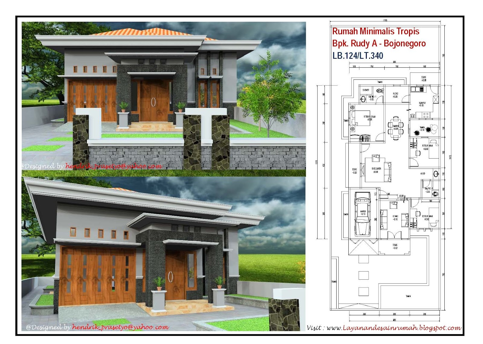 Layanan Jasa Desain Rumah Rumah Minimalis Tropis Bpk Rudy A