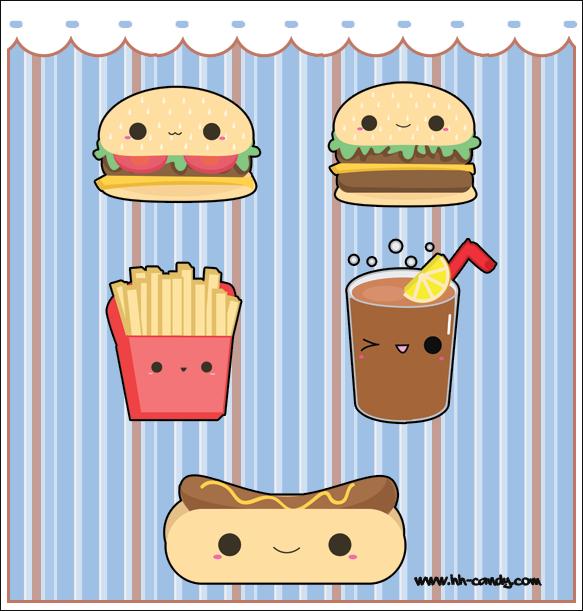 Cute Anime Food Kawaii Wallpaper Related Keywords