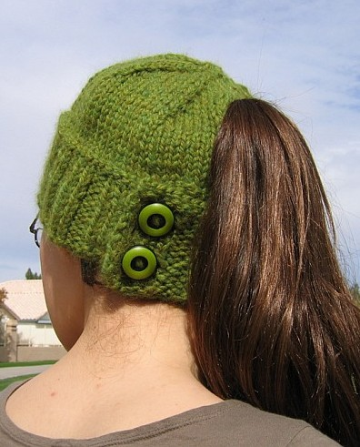 Knit Hat Pattern Ponytail Hole : Knit Hat Models-Knitting Gallery