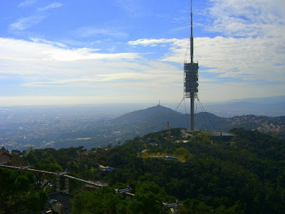Collserola Tower from the Tibidabo funfair