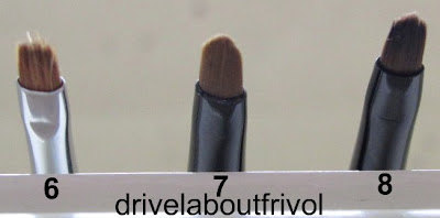 brush comparison Shu Uemura 4F, Maybelline gel eyeliner, KATE gel eyeliner