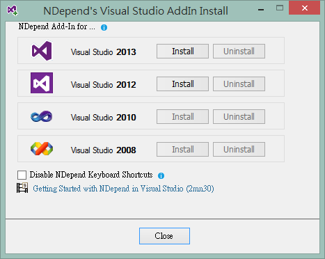 NDepend v5 Setup step 2