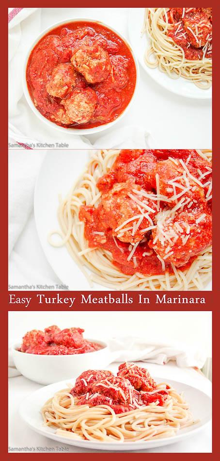 Easy Turkey Meatballs In Marinara