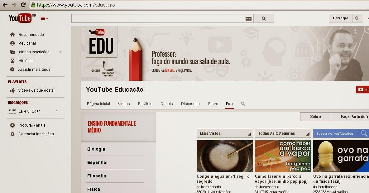 YouTube Edu, o canal que conta com 11 mil vídeos educacionais