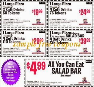 Chuck e cheese double ticket coupons