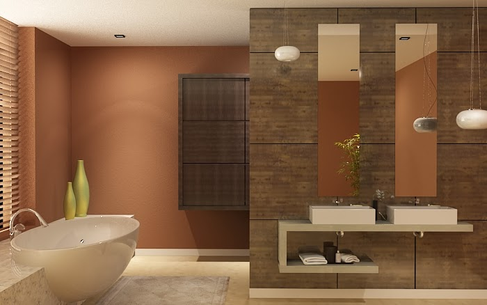 3d visualization modern toilet design for Modern washroom designs