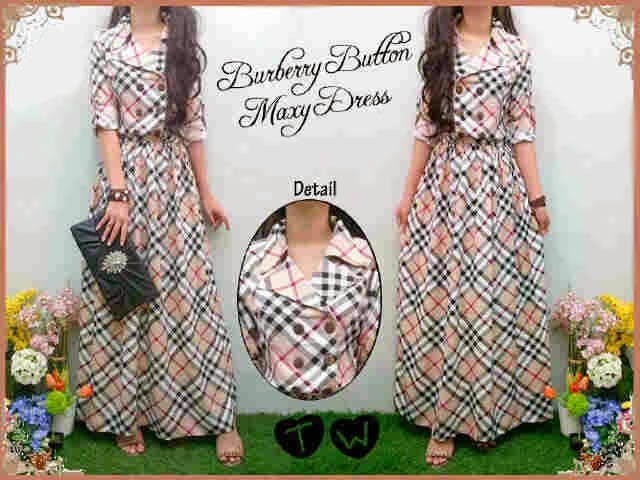 Burberry Button Maxy Dress
