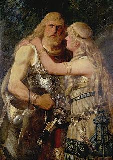 Arminio se despide de Thusnela Obra de Johannes Gehrts