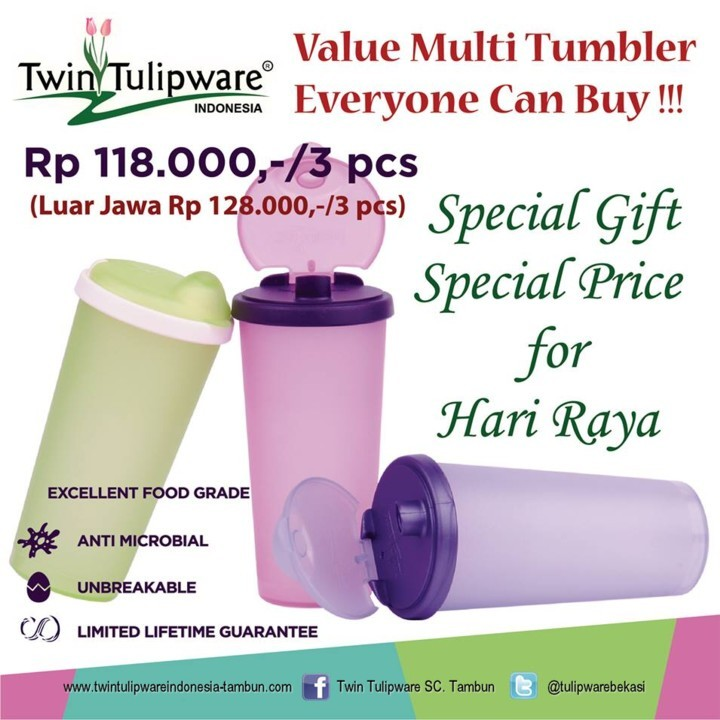 value multi tumbler tulipware 2013