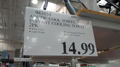 2 pack of Arctic Cool Instant Cooling Towels at Costco