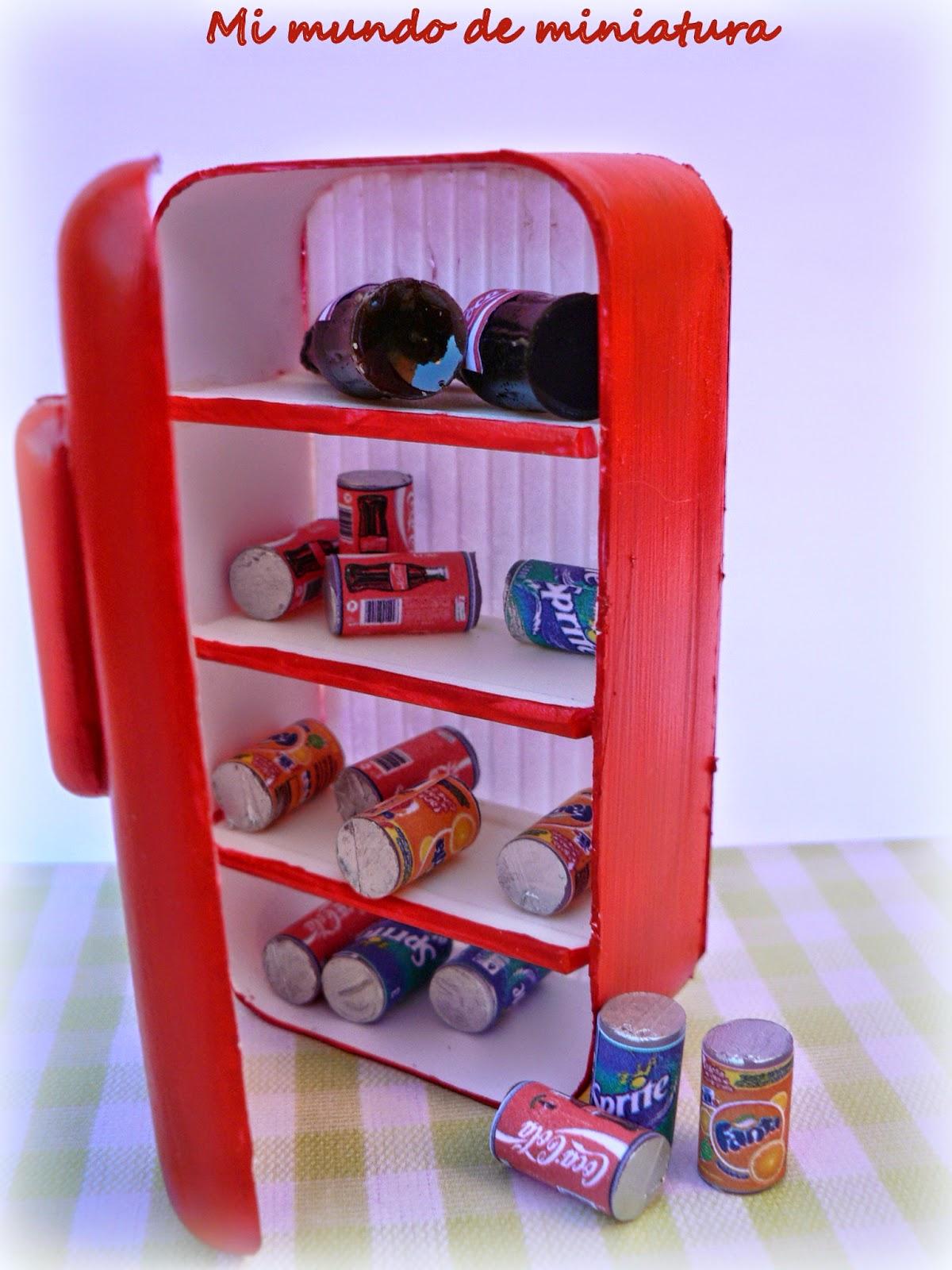Mi mundo de miniatura frigo retro - Frigo pequeno ...