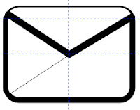 Gmail Icon Tutorial 30x line